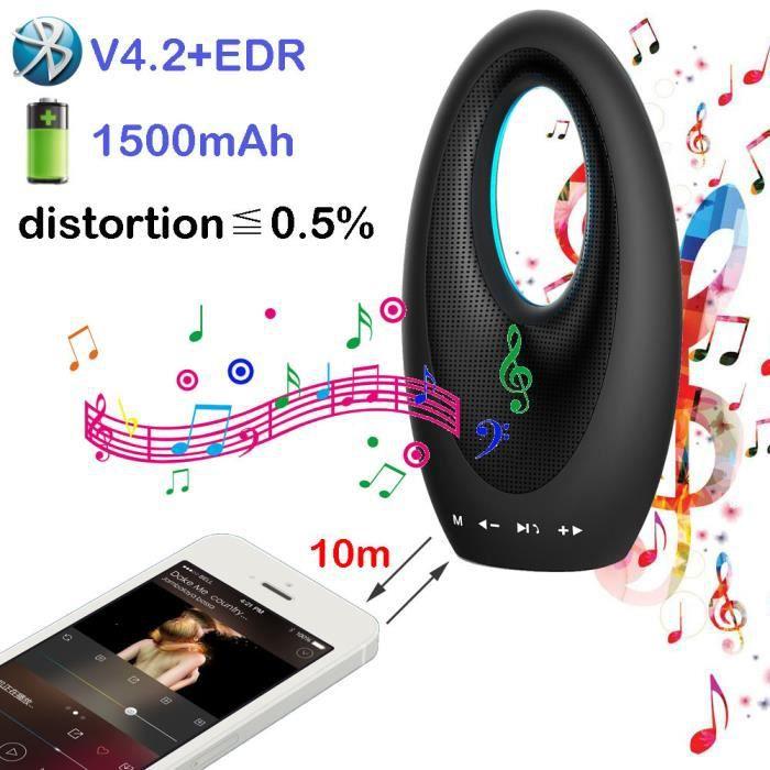 Haut-parleurs Sans Fil Bluetooth V4.2 De Haut-parleur Portable Avec Son Hd And Bass Bk_r1454