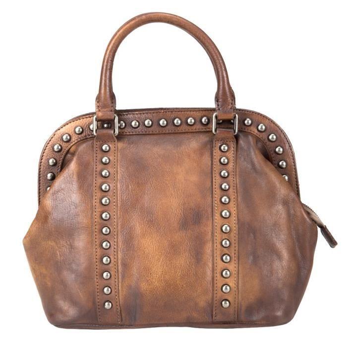 sac à main, sac à main rivet en cuir pleine fleur casual rivet 150252 AVIG4