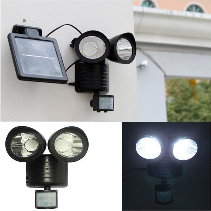 22 Led Lampe Solaire Exterieur Detecteur De Mouvement Lampe De