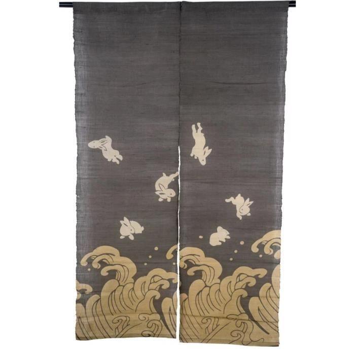 Noren japonais traditionnel rideau de porte 150x85 cm for Decoration porte japonaise