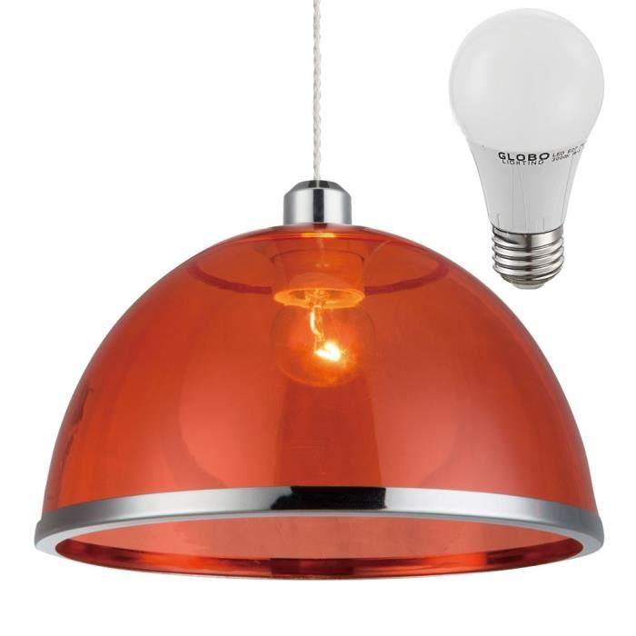 Suspension Rouge Led Luminaire Plafond Lampe Del 7 W éclairage