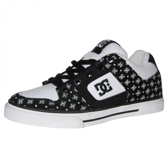 samples shoes DC PURE BLACK WHITE STENCIL KIDS / ENFANTS