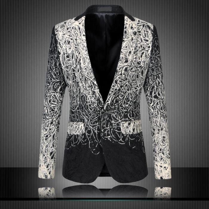 Grande Veste Fleurs Blazer Chic A Taille Décontracté Homme Costume wzHIZxFq7