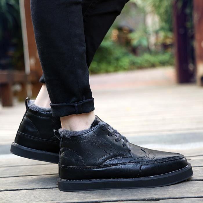 Botte Homme Vintage de luxe Matin hommes noir taille9.5
