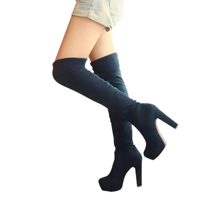 Chaussures botte femme - cuissarde sexy genoux
