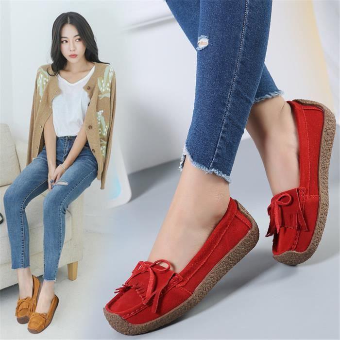 Moccasins Femmes Rétro Simple Confortable Hiver Chaussure Couleur unie Haut qualité Classique Moccasin Elégant Taille 35-43