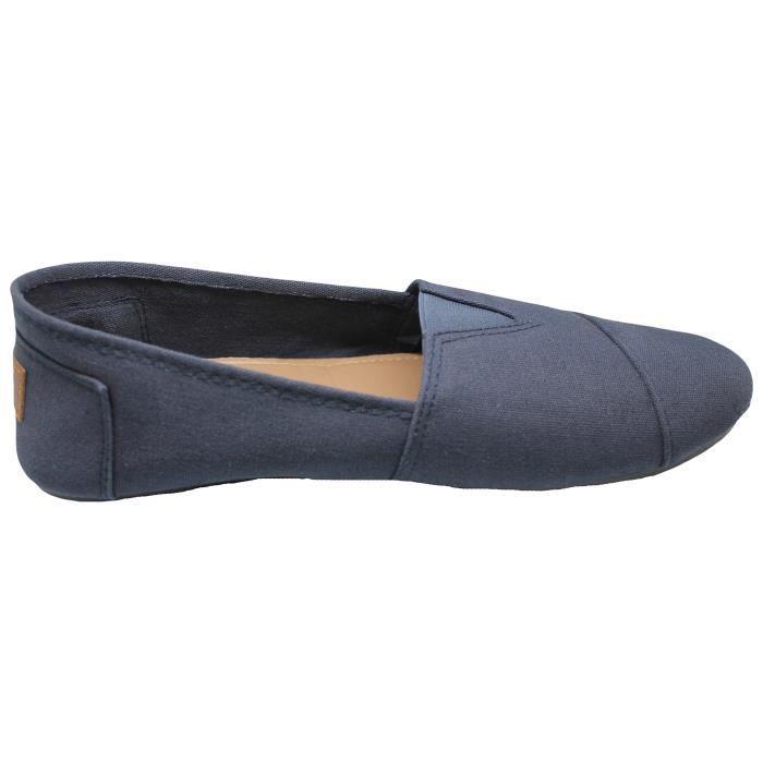 Hommes Canvas Slip On Sneakers Chaussures. Disponible en bleu marine, gris, noir, beige et marron XM0OK Taille-39