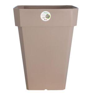RIVIERA Pot carré Soleilla en plastique 49x49x45cm - 65l - Taupe