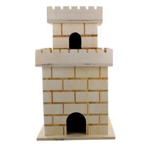 LA FOURMI Mini tour de château en bois 11,8x11,8x20cm