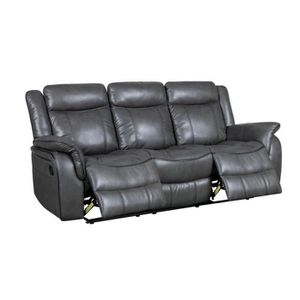 canap sofa divan canap relax 3 places gris johny - Canape Relax 3 Places