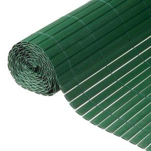 CLÔTURE - GRILLAGE Brise-vue de jardin 1 x 3 m PVC Vert