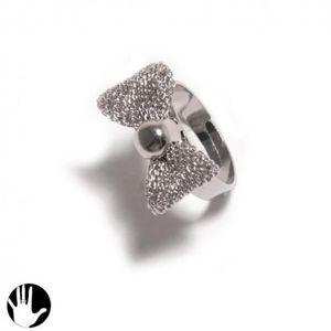 6e1b85a19c0 BAGUE - ANNEAU Bague Reglable Metal Argenté Noeud