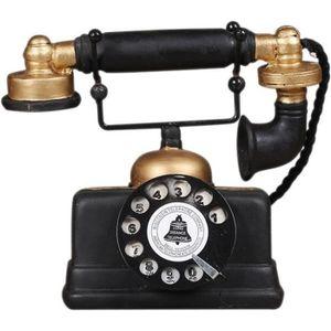 OBJET DÉCORATIF Loft industriel rétro Modèle de Téléphone Fixe rot