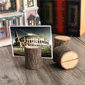 MARQUE-PLACE  TINKSKY 10pcs Porte Carte Photo en bois Décoration