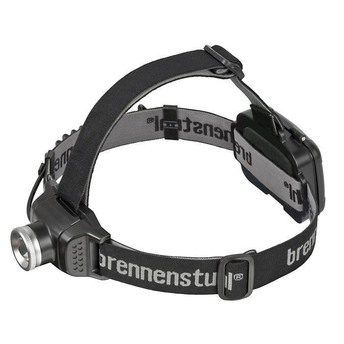 BRENNENSTUHL Lampe frontale LED 200 lm IP44 avec 3 piles AA incluses 4h d'autonomie