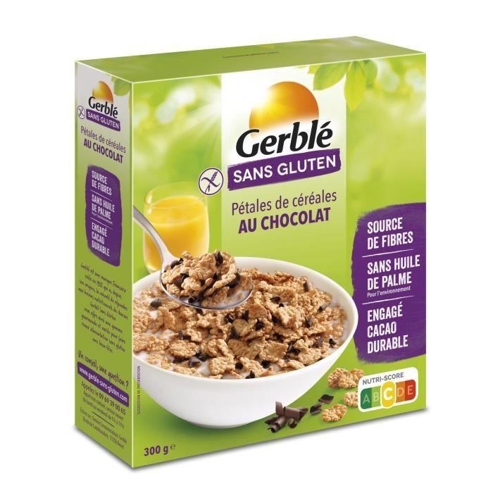 GERBLE Pétales de riz, avec des copeaux de chocolat - 300 g