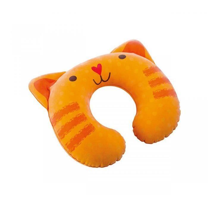 Oreiller gonflable enfant intex chat