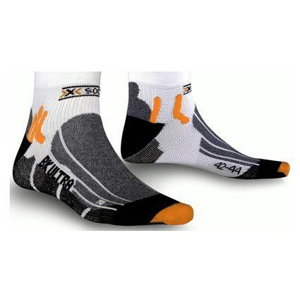 X-SOCKS Chaussettes de biking Ulralight - Blanc / Noir