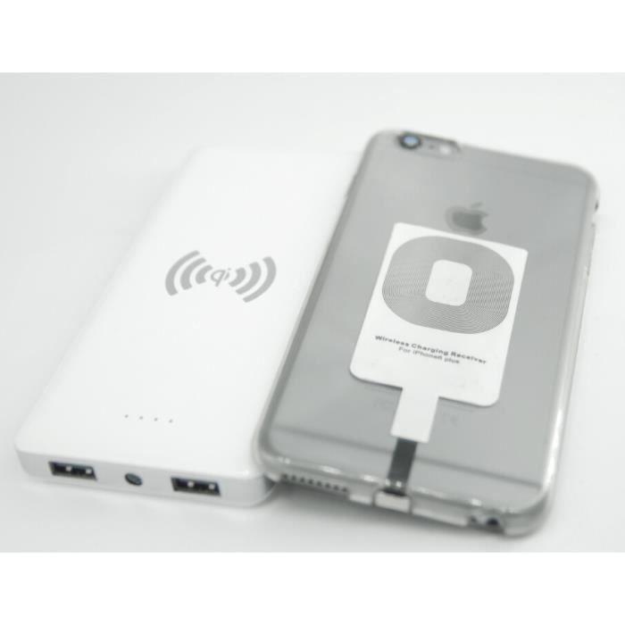 batterie chargeur qi sans fil kit iphone 6 plus achat chargeur t l phone pas cher avis et. Black Bedroom Furniture Sets. Home Design Ideas