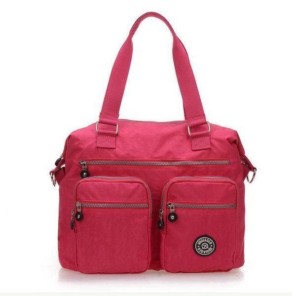 SBBKO681Femmes sacs à main en nylon occasionnels sacs à bandoulière imperméable poche multiples crossbody extérieure sacs Rose rouge