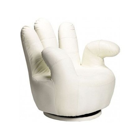 Fauteuil Main blanc - Achat / Vente fauteuil Fauteuil Main blanc pas cher 3700726002780 - Cdiscount