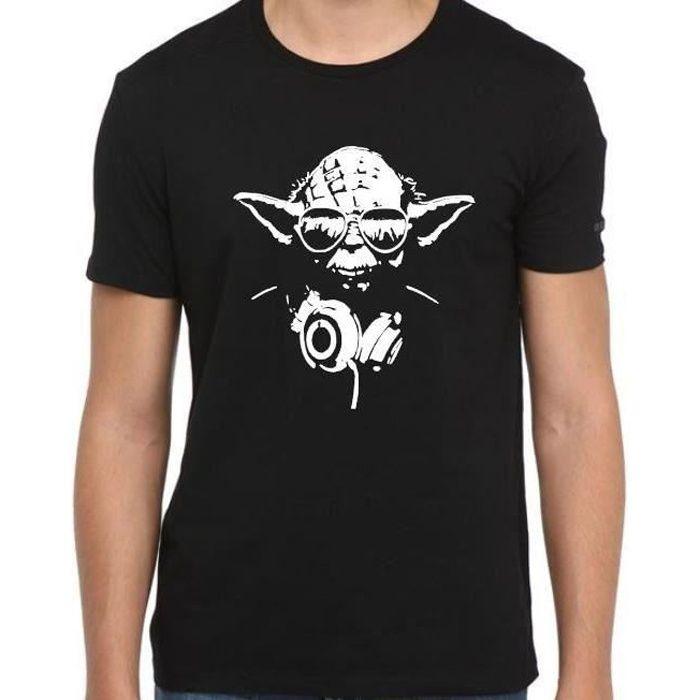 Avec Shirt Maître Homme Star Yoda Lunettes Et Tee Casque T c5ALS3j4Rq