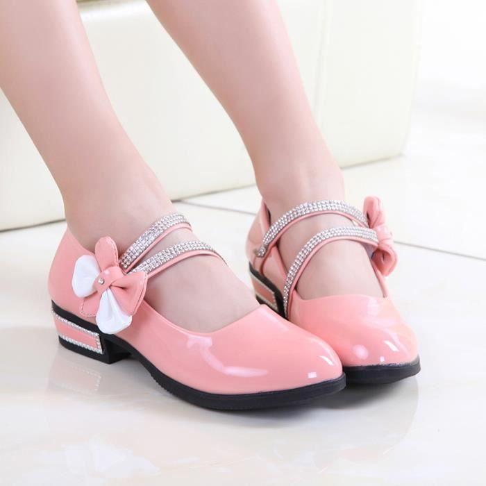 IZTPSERG Chaussure Ballerines Enfant Fille Rose 5m3ZI
