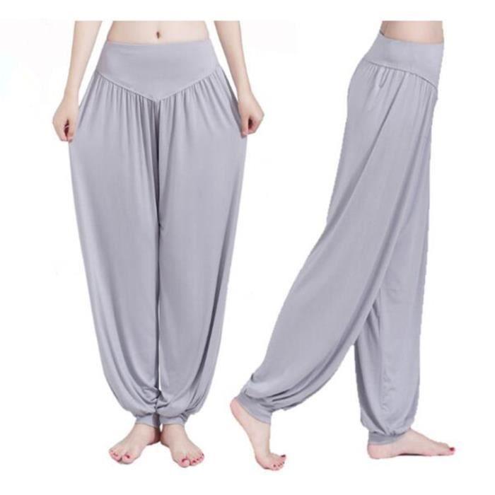 Pantalon de Yoga Pour Femme Pantalon de Danse Anti-statique Respirant et  Elastique 57e708412c84