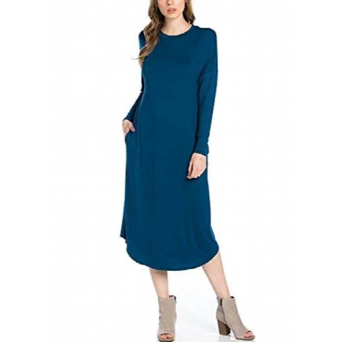 Craze womens robe trapèze midi élégante une ligne, une ligne de robe par S8S7W