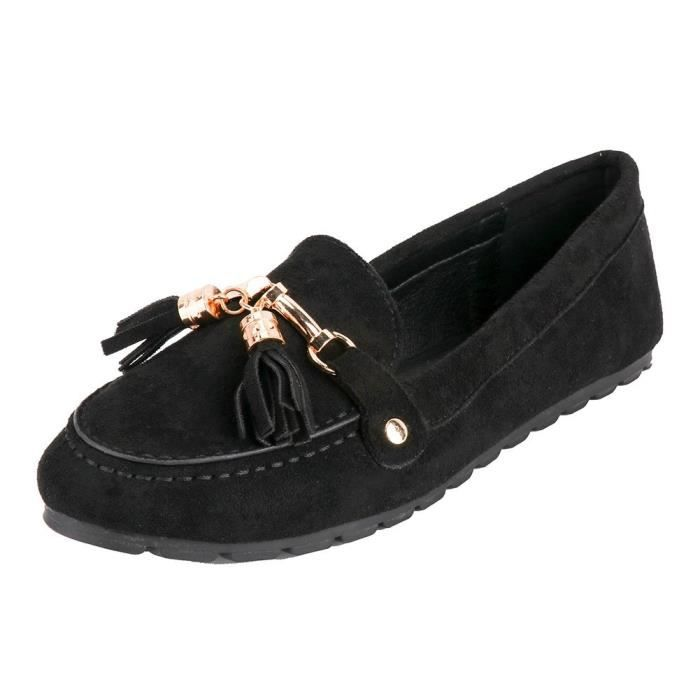 Suede Fringe Slip-on Slippers Loafers Casual Comfort Driving Shoes X6MLM Taille-40