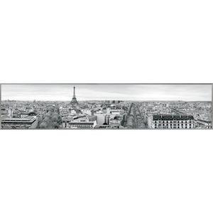 CADRE PHOTO PARIS Tableau déco 25x120 cm noir et blanc