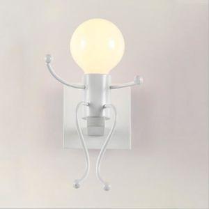 APPLIQUE  Applique Murale Robot Lampe de fixation en fer cré