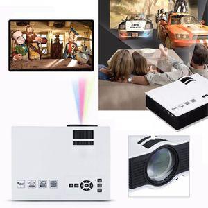 Ensemble home cinéma 1200 lumens 1080P HD LED Mini maison Projecteur mu