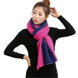 385a115b2c80 Élégant foulard des femmes Pashmina Écharpe luxe Belle à tricoter Se  leva+Marine