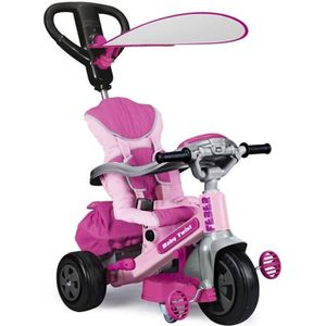 TRICYCLE FEBER Tricycle Evolutif Baby Twist 360° Rose 10 Po