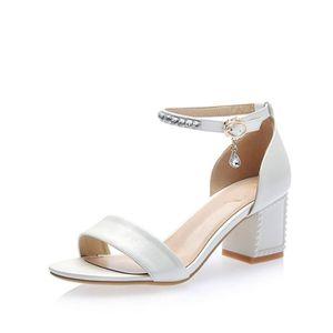 SANDALE - NU-PIEDS Sandales femmes chaussures à talon haut SIMPLE FLA
