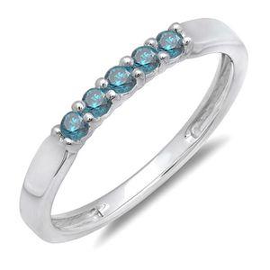 BAGUE - ANNEAU Bague Femme Diamants 0.25 ct  18 ct 750-1000 Or Bl
