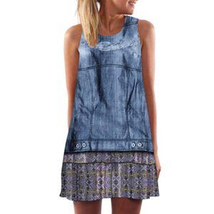 aa6f8957ba7 ROBE DE PLAGE Pilerty®K1Vintage Mini robe de plage imprimée sans ...