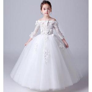 ROBE DE MARIÉE Robes de filles robe de princesse costumes blancs