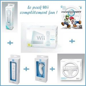 CONSOLE WII Pack Wii Mario Kart 2 Joueurs