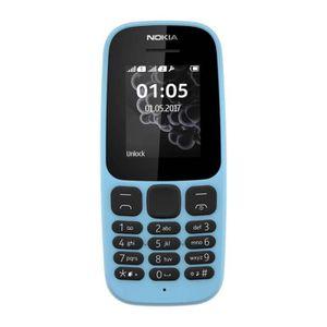 Téléphone portable Nokia 105 (2017) Double Sim Bleu - Tout Opérateurs
