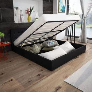 STRUCTURE DE LIT Cadre de lit 160 x 200 cm avec cuir synthétique de