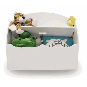COFFRE À JOUETS Coffre à jouets en bois coloris blanc - Dim : 69,5