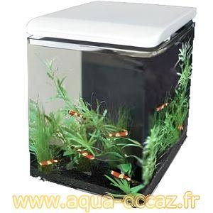 AQUARIUM Aquarium 8 litres blanc complet pour eau douce et