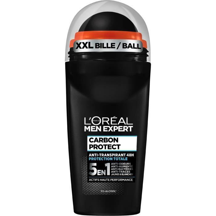 MEN EXPERT - Déodorant Bille Carbon Protect 5 en 1 Ice Fresh - 50 ml