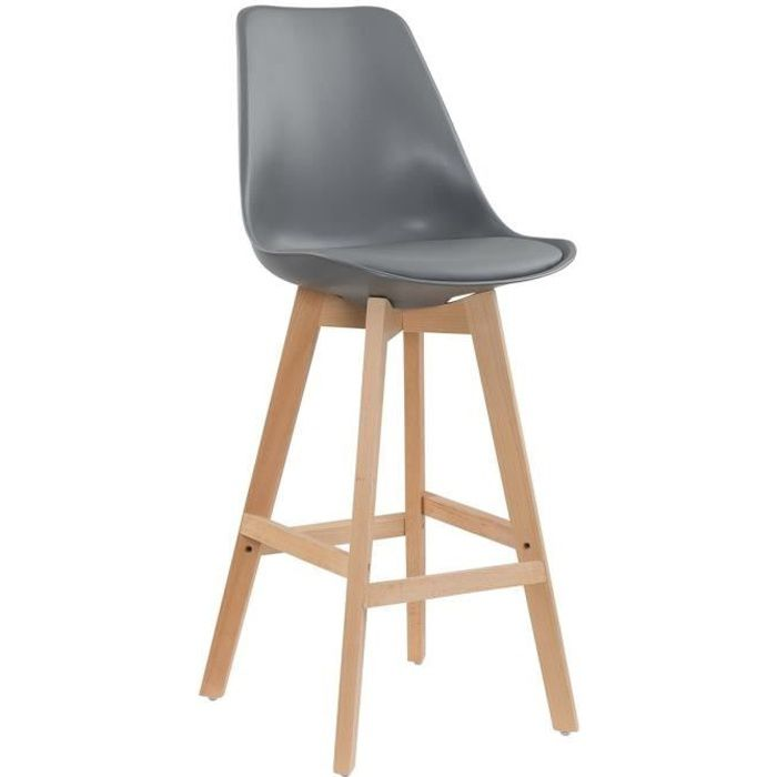 lot de 2 tabourets de bar scandinave gris gala achat vente tabouret de bar gris cdiscount. Black Bedroom Furniture Sets. Home Design Ideas