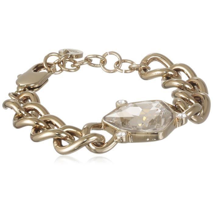 Bracelet Dyrberg - Kern en laiton dor - Crystal Clear 336698 18 cm I45RK