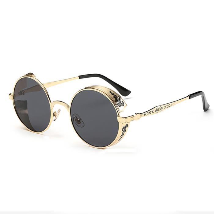 Femmes hommes dété lunettes de soleil Vintage rétro rondes de couleur de dégradé lunettes de soleil unisexe gris
