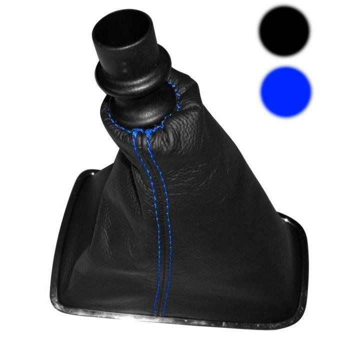 Aerzetix:Soufflet levier de vitesse en 100/% CUIR v/éritable avec coutures//surpiq/ûres noires