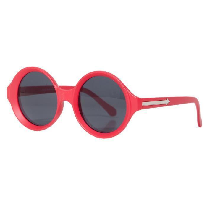 Accessoryo - Lunettes De Soleil Rondes Rouge De Dames Avec La Conception De Flèche Avec Des Verres Teintés Noirs FkA4u9OBI
